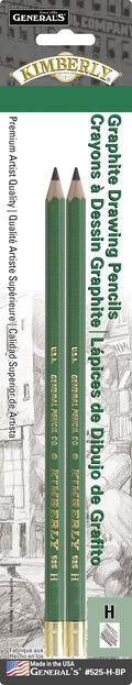 Kimberly Graphite Drawing Pencils 2/Pkg-H