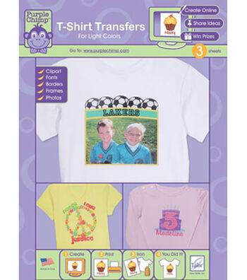 Purple Chimp T-Shirt Transfers-Light Colors