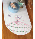 Fairway Stamped Perle Edge Dresser Scarf Butterfly Lady