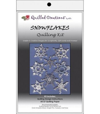 Quilled Creations Quilling Kits-Snowflakes