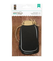 American Crafts DIY Shop 2 Chalkboard Mason Jar Tags, , hi-res