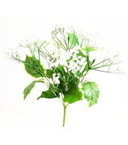 Blooming Holiday Christmas 13.5'' Berry & Holly Leaves Spray-Green, , hi-res