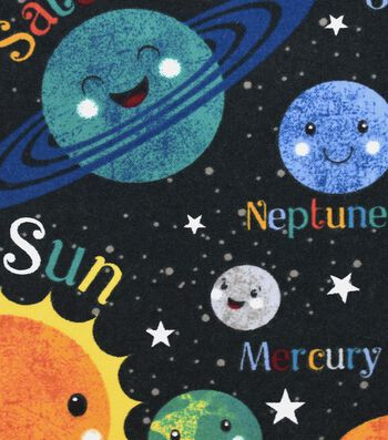 "Snuggle Flannel Fabric 42""-Happy Solar System"
