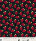 Novelty Cotton Fabric 43\u0022-Miniature Strawberries