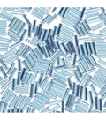 Glass Bugle Beads-Turquoise with Silver Lining, 1/4 inch long.