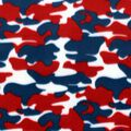 Blizzard Fleece Fabric- Red White Blue Camo