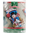 Santa Stop Here Stocking Felt Applique Kit 18\u0022 Long