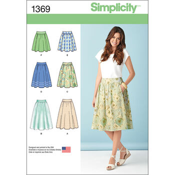 Simplicity Pattern 1369R5 14-16-18-2-Misses Skirts Pants