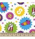 Shopkins Flannel Fabric 42\u0022-Seeing Stars