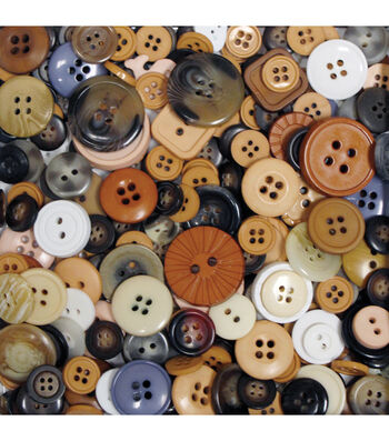 Favorite Findings Big Bag of Buttons-Natural