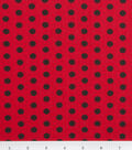 Keepsake Calico™ Cotton Fabric 43\u0027\u0027-Black Zest Dot on Red