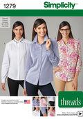 Simplicity Pattern 1279R5 14-16-18-2-Misses Top / Vest
