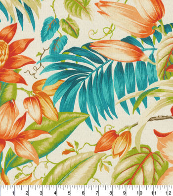 """Tommy Bahama Outdoor Fabric 54""""- Botanical Glow Tiger Lily"""