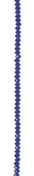 7\u0022 Bead Strands - Sapphire Blue Crystal Rondelles, 3 x 4mm