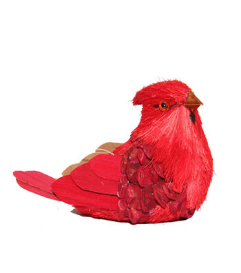 Blooming Holiday Christmas Sitting Cardinal-Red & Natural