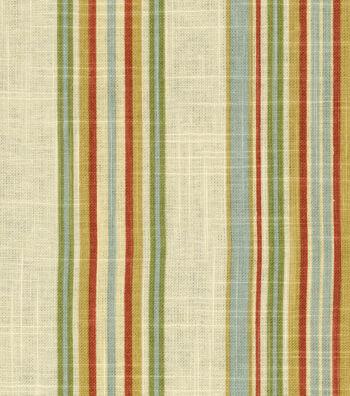 "Waverly Upholstery Fabric 55""-Stripe Ensemble Robin's Egg"