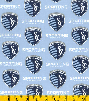 "Sporting Kansas Cotton Fabric 58""-Logo"