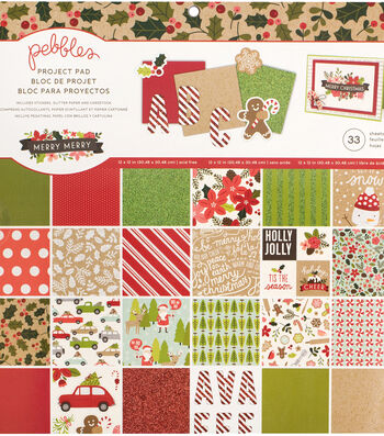 "Pebbles Project Pad 12""X12""-Merry Merry"