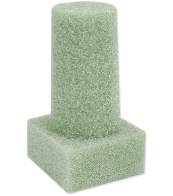 "Floracraft Styrofoam Vase Insert 6""X3""X2"" 1PKg-Green"