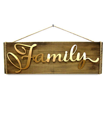 Fall Into Color 3D Family Wood Wall Decor
