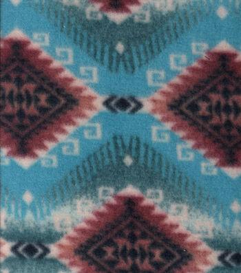 "Anti-Pill Fleece Fabric 58""-Iditarod Print Blue"