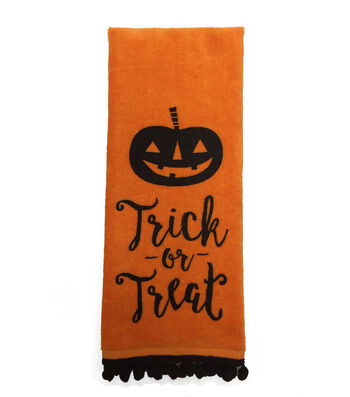 "Maker's Halloween Velour & Terry Hand Towel 16""x28""-Trick Or Treat"