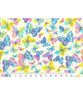 Novelty Cotton Fabric-Butterfly Bright