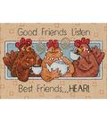 Dimensions Good Friends Listen Mini Counted Cross Stitch Kit-7\u0022X5\u0022