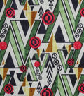Modern Cotton Fabric 43\u0027\u0027-Triangle Forest on White