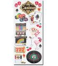 Embossed Casino Stickers