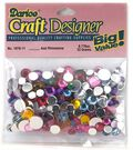 Darice Craft Designer Assorted Acrylic Rhinestones-22gr/Multi
