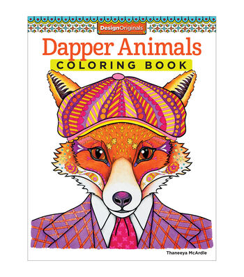Adult Coloring Book-Design Originals Dapper Animals