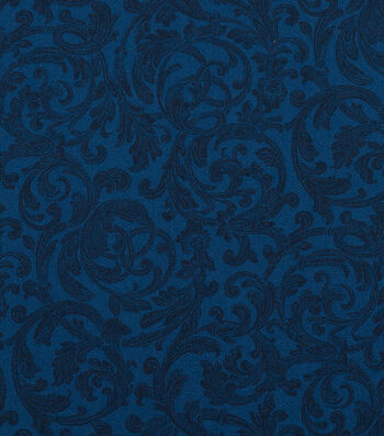 Keepsake Calico™ Cotton Fabric 108''-Estate Blue Floral Scroll