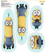 "Minion Cotton Fabric 44""-Kevin and Bob, , hi-res"