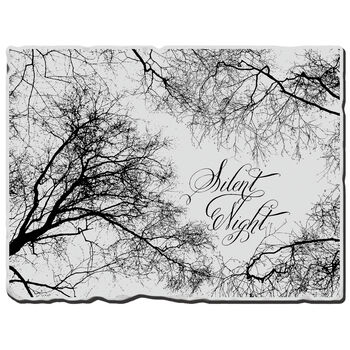 Silnt Nite-cling Rubber Stamp