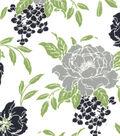Quilter\u0027s Showcase® Fabric 43\u0027\u0027-Green & Navy Floral