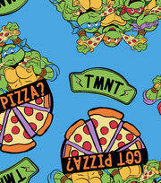 "Teenage Mutant Ninja Turtles® Fleece Fabric 59""-Retro Got Pizza, , hi-res"