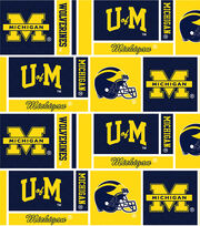 "University of Michigan Wolverines Cotton Fabric 44""-Herringbone Box, , hi-res"