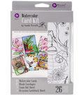 Prima Watercolor Coloring Card Kit-Makes 12