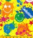 Smiley World Flannel Fabric 42\u0022-Smiley Splat