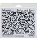 Darkroom Door Background Cling Stamp 4\u0022X6\u0022-Butterflies