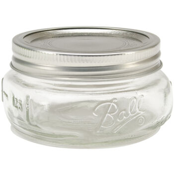 Ball Wide Mouth Canning Jar 4/Pkg-Half Pint
