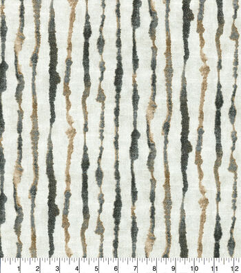 Ellen DeGeneres Upholstery Fabric 54''-Natural Watercolor Stripe