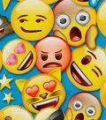 Emoji Flannel Fabric 43\u0027\u0027-Smiley Packed