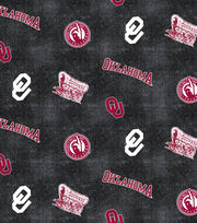 "University of Oklahoma Sooners Flannel Fabric 42""-Distressed Logo, , hi-res"