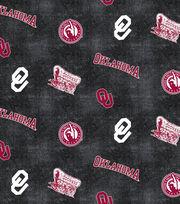 "University of Oklahoma Sooners Flannel Fabric 42""-Distressed Logo, , hi-res"