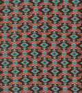 Southwest Apparel Fabric-Silky Brown, Orange & Turquois Crepe