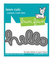 Lawn Fawn Lawn Cuts Custom Craft Die -Scripty Hello, , hi-res