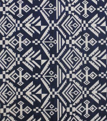 "Earth Child Apparel Jacquard Fabric 55""-Navy Aztec"