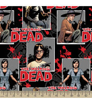 The Walking Dead Ready For War Cotton Fabric, , hi-res